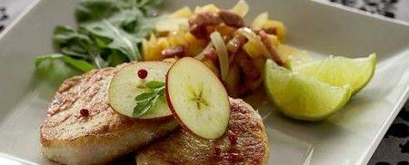 Ricetta filetto di maiale allo speck alle mele