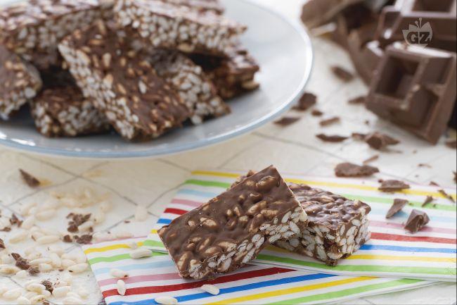 Ricetta barrette al riso soffiato e cioccolato