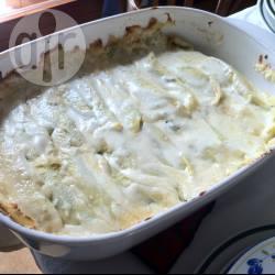 Crepes con spinaci e besciamella