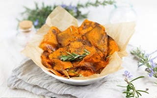 Ricetta chips di zucca al rosmarino
