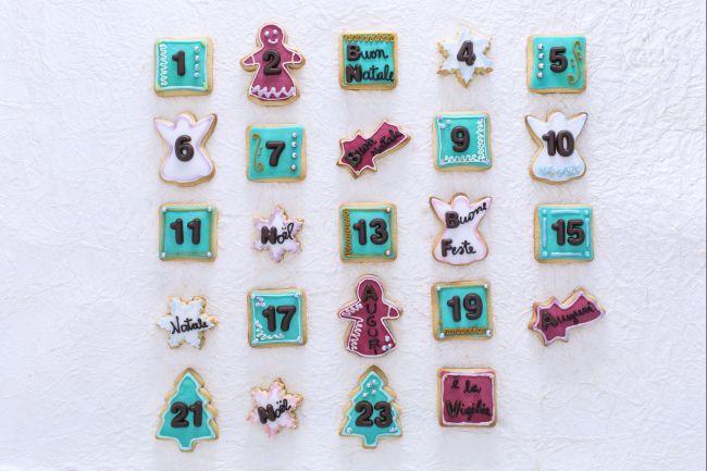 Ricetta calendario dell'avvento di biscotti