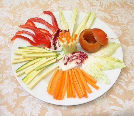 Ricetta crudità di verdure in pinzimonio