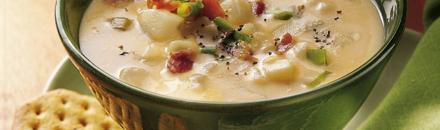 Ricetta zuppa di patate, fave e carciofi