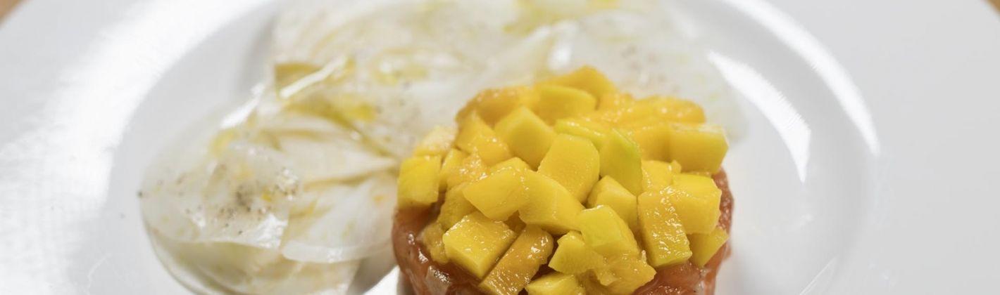 Ricetta tartare di salmone norvegese con mango e finocchi ...