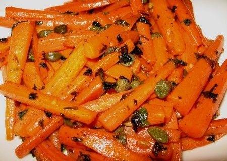 Ricetta carote con capperi e pecorino