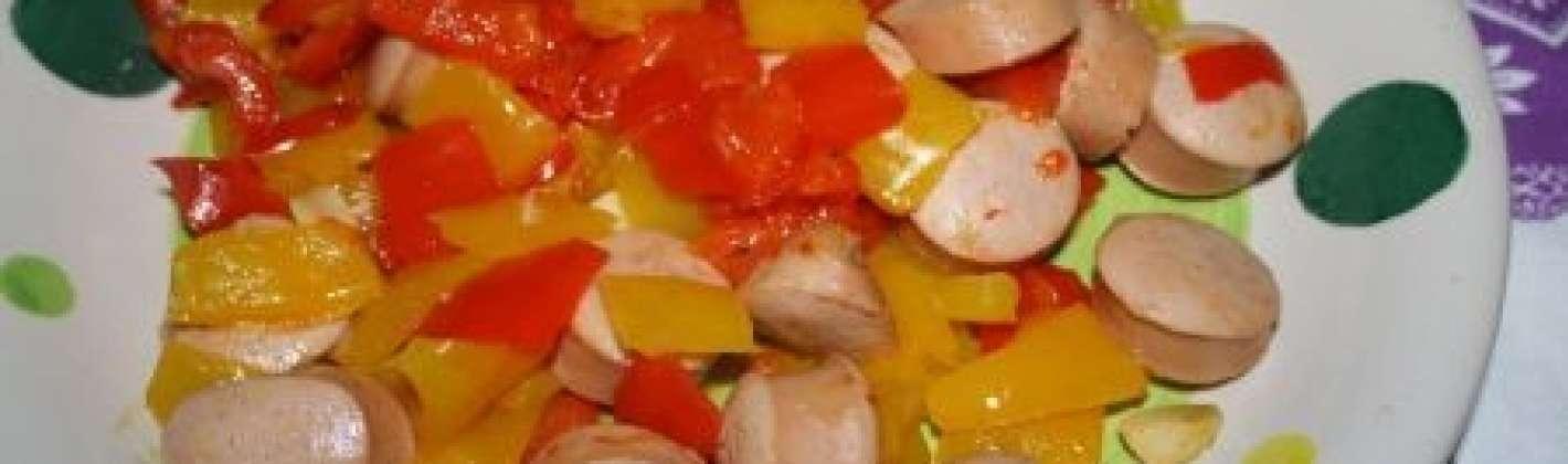 Ricetta wurstel con i peperoni