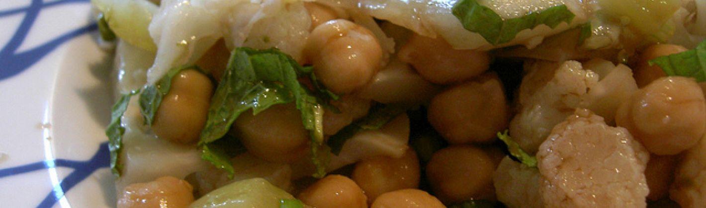 Ricetta insalata di ceci e cavolfiori