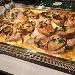 Maiale al forno con patate cremose