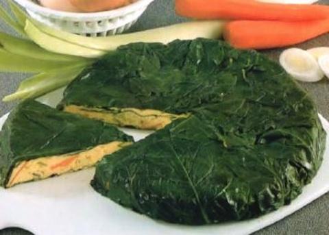Torta di porri, bietole e carote
