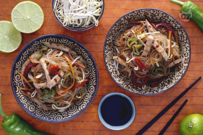 Ricetta spaghetti di soia all'orientale