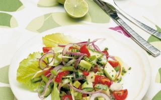 Ricetta insalata estiva rossa e verde al lime