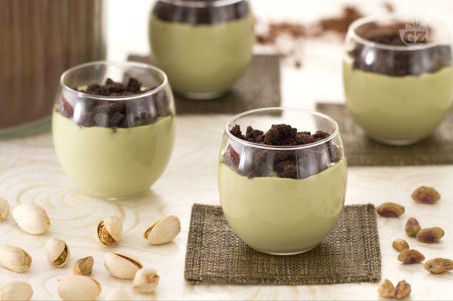 Ricetta cremoso al pistacchio con crumble al cacao