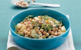 Ricetta insalata di ceci patate e cipollotti