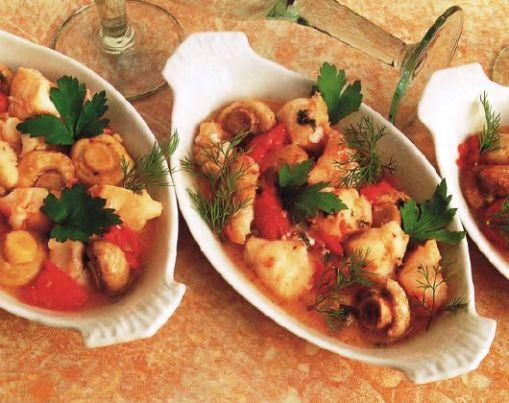 Brodetto di pesce con calvados, prezzemolo e aneto