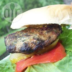 Hamburger di tacchino con caprino e spinaci