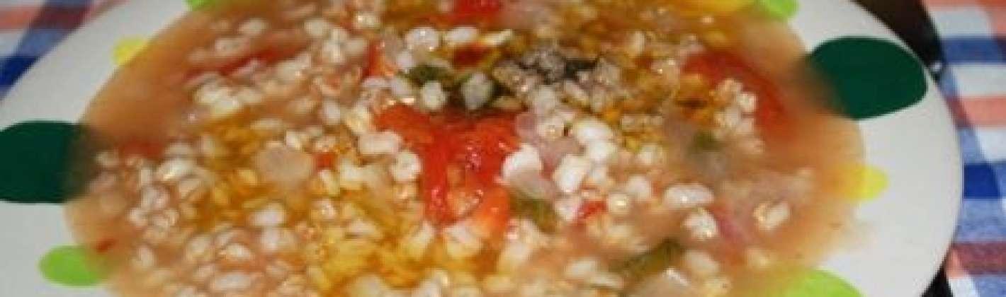 Ricetta zuppa fredda di farro