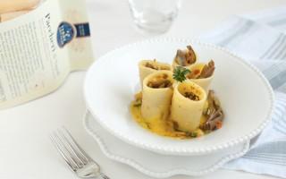 Ricetta paccheri con carciofi, briciole, crema di patate allo zafferano ...