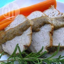 Arrosto di maiale con panna e senape dolce
