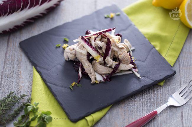 Ricetta straccetti di pollo al radicchio