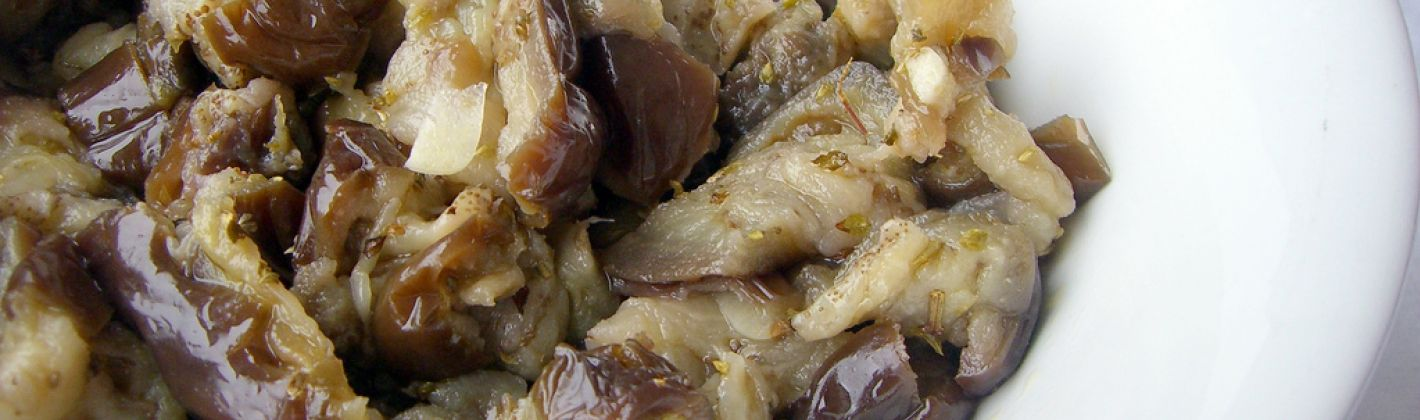 Ricetta insalata di melanzane libanese