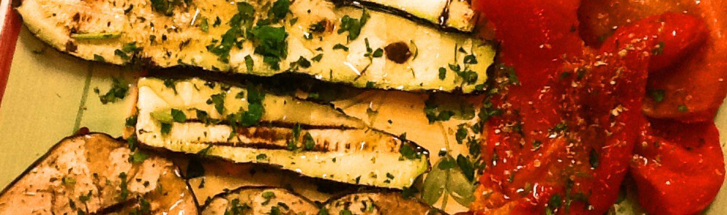 Ricetta l'insalata di verdure grigliate