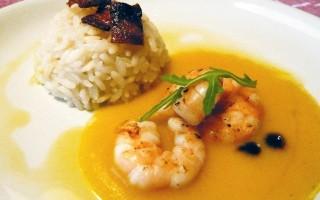 Ricetta riso con gamberi e crema di patate al curry dolce ...