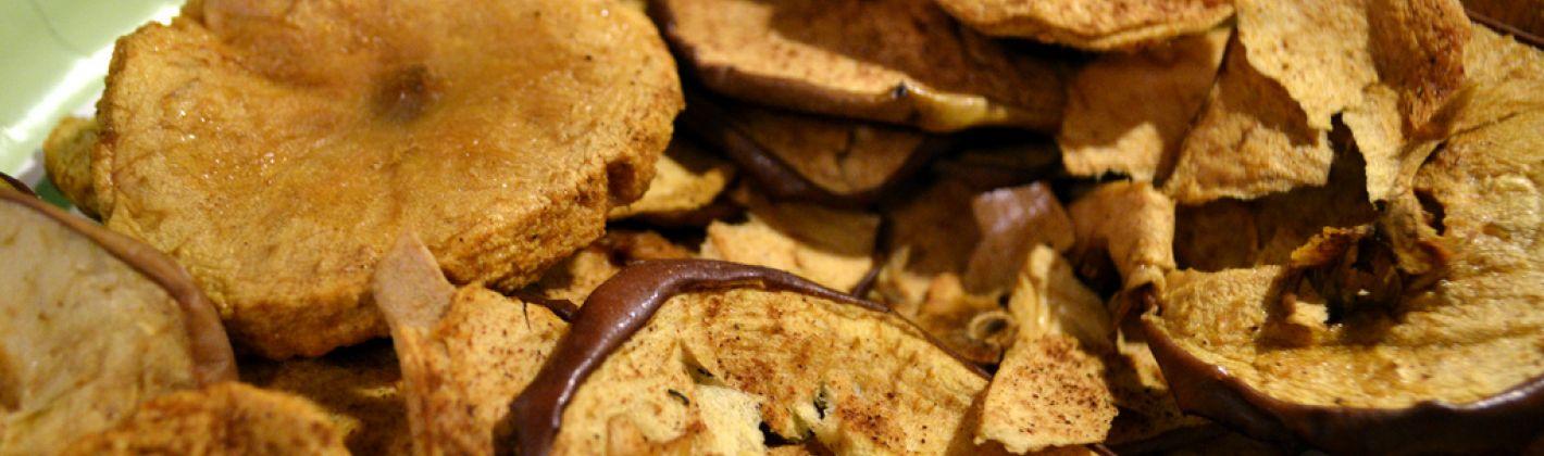 Ricetta chips di mela con cannella
