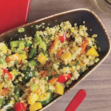 Ricetta pilaf di quinoa e verdure primavera