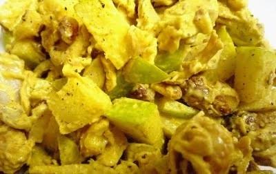 Ricetta insalata di pollo e mela al curry