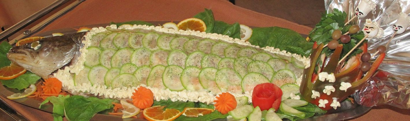 Ricetta salmone in bella vista