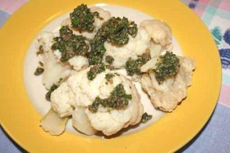 Ricetta cavolfiore con salsa piccante