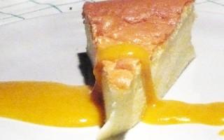 Ricetta cheesecake giapponese con salsa di mango