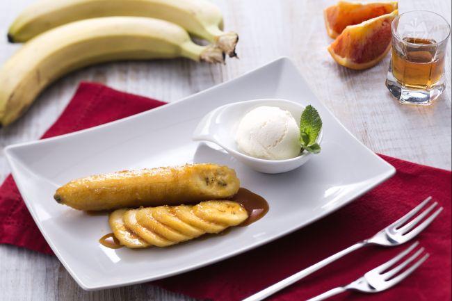 Ricetta banane flambe'