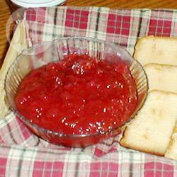Marmellata di mele e rabarbaro fresco