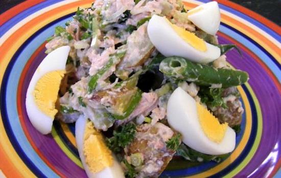 Insalata di tonno ed uova di quaglia