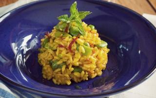 Ricetta risotto fave e zafferano