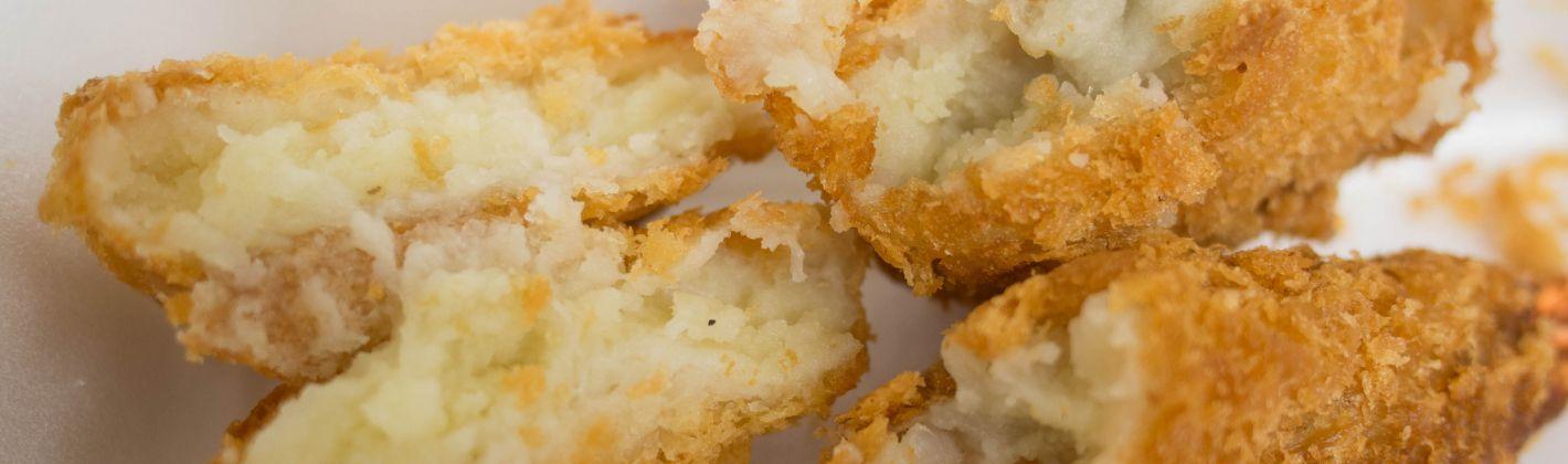 Ricetta crocchette di patate con scampi e funghi