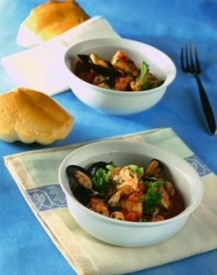 Ricetta spezzatino di pesce con broccoli e pomodoro