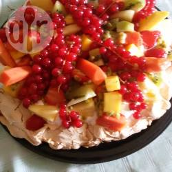 Torta pavlova esotica