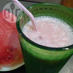 Frullato fresco all'anguria e melone