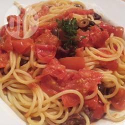 Spaghetti alla puttanesca di tina