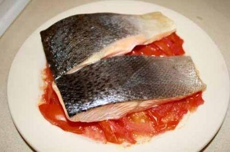Ricetta salmone sul pomodoro