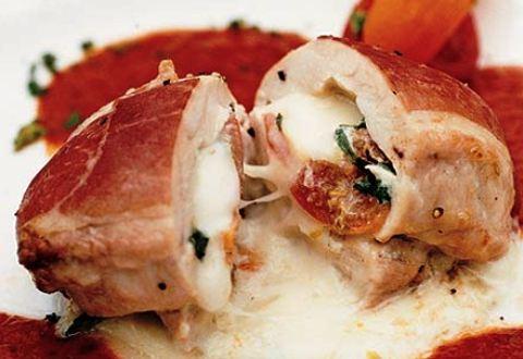 Petto di pollo farcito con formaggio e finocchio