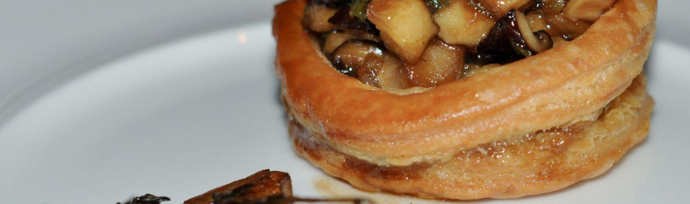 Ricetta vol-au-vent ai funghi e tartufo
