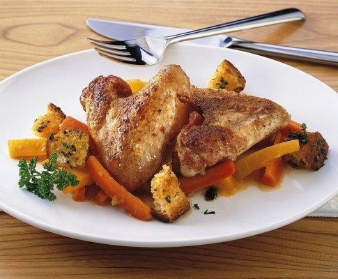Ali di pollo con carote