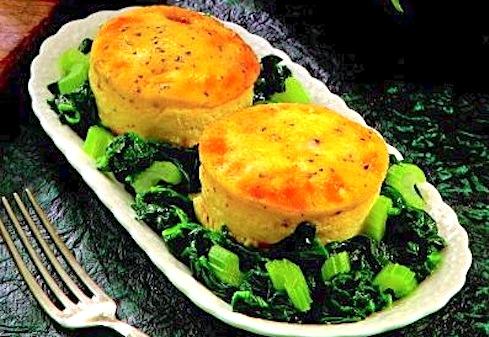 Sformatini alla fontina e spinaci