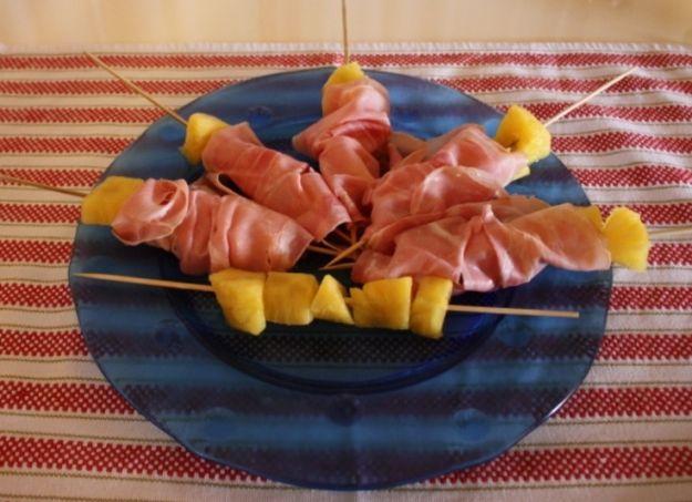 Ricetta prosciutto crudo e ananas