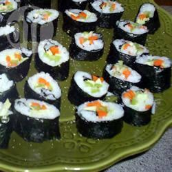 Rotolini di sushi vegetariani