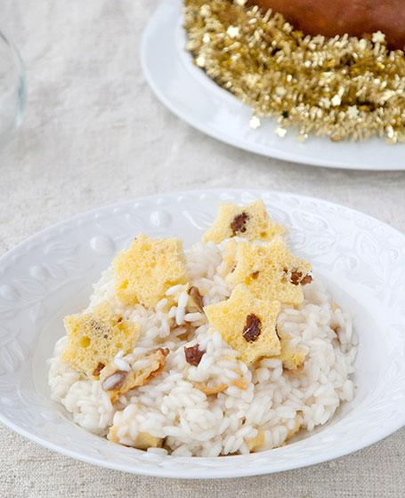 Riso gallo gran riserva per il risotto al panettone