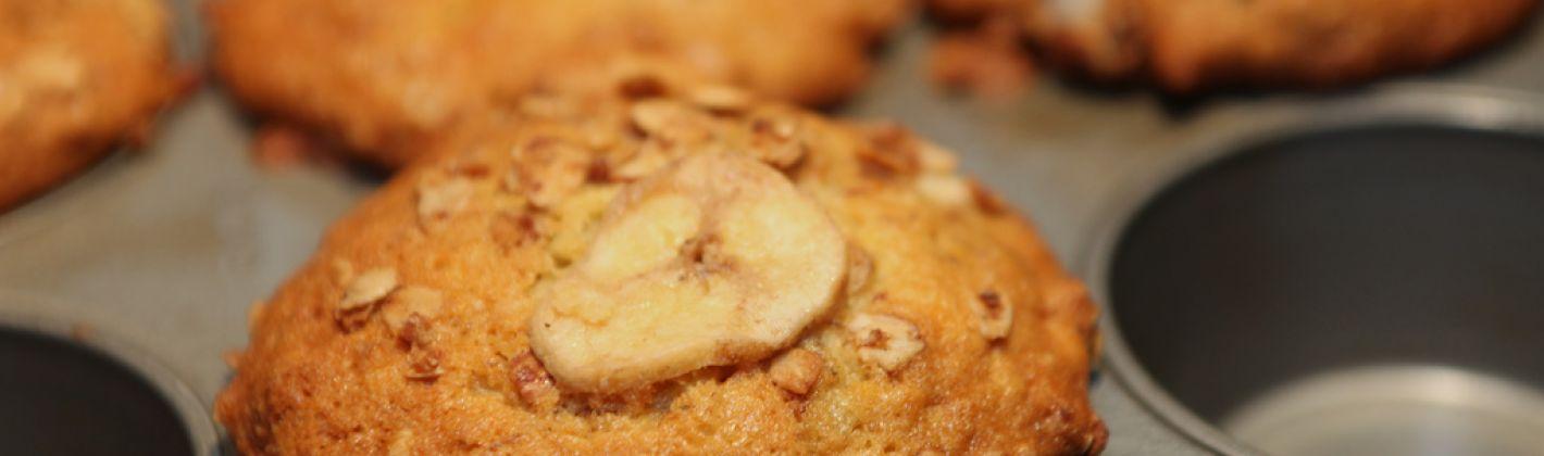 Ricetta muffin senza glutine alla banana e noci